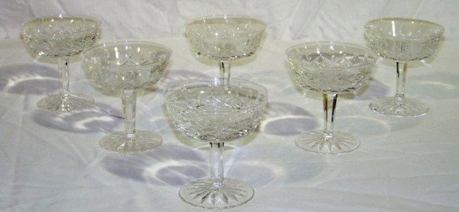 "1: 6 Waterford Signed Lismore 4"" Glasses"