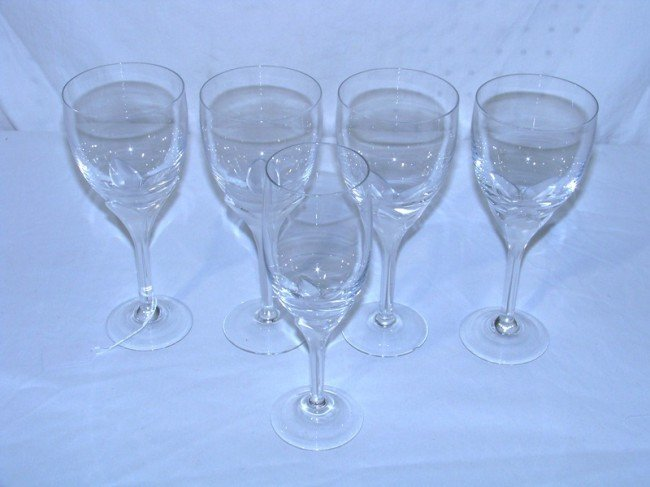 6: 5 Frosted Rosenthal Studio Line Wine Glasses