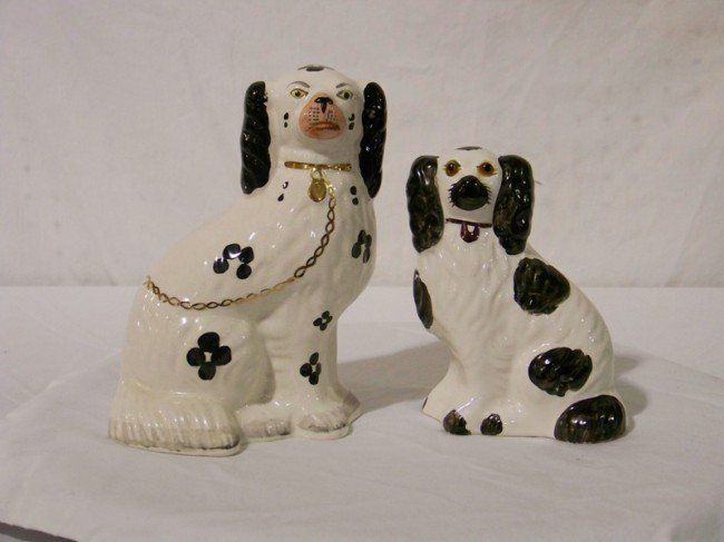 1: Pair Staffordshire Style Dogs