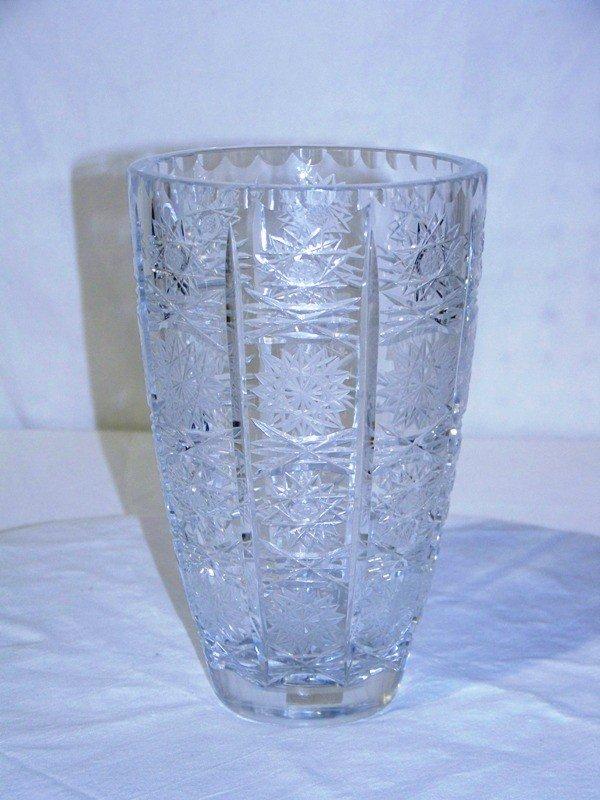 2: Vintage American Brilliant Cut Glass Vase