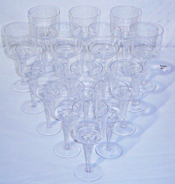 5: 17 Rosenthal Signed Crystal Glasses