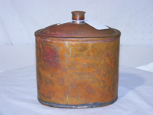 13: 19th C. Dovetailed Copper Canteen