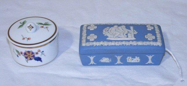 20: Vintage Wedgewood Jasper Box & Ginori Dresser Box