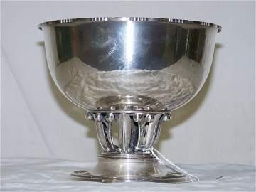 129: Georg Jensen Sterling Fruit Bowl on Circular Base
