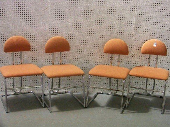 142: 4 Chrome Modern Chairs by Loewenstein / Oggo - 2