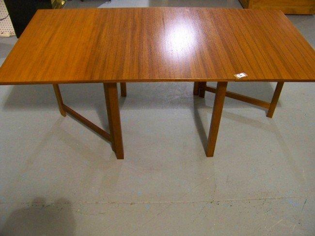 186: Mid Century Modern Teak Drop Leaf Gate Leg Table