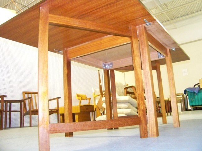 186: Mid Century Modern Teak Drop Leaf Gate Leg Table - 2