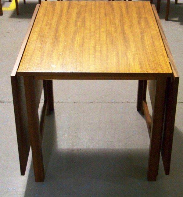 186: Mid Century Modern Teak Drop Leaf Gate Leg Table - 4
