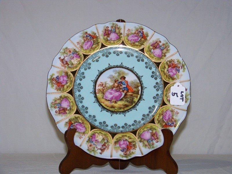 5: Royal Vienna Signed Gragonard Figural Plate