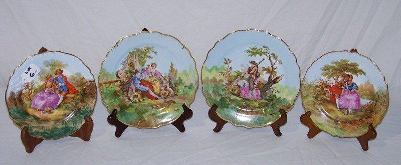 6: 4 Signed Limoges Figural Plates