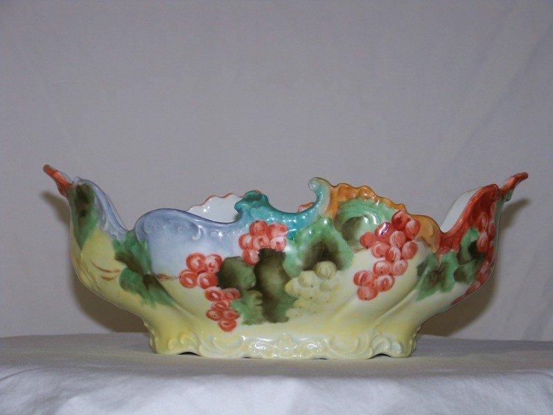 13: Vintage Hand Painted German Porcelain Fruit Bowl