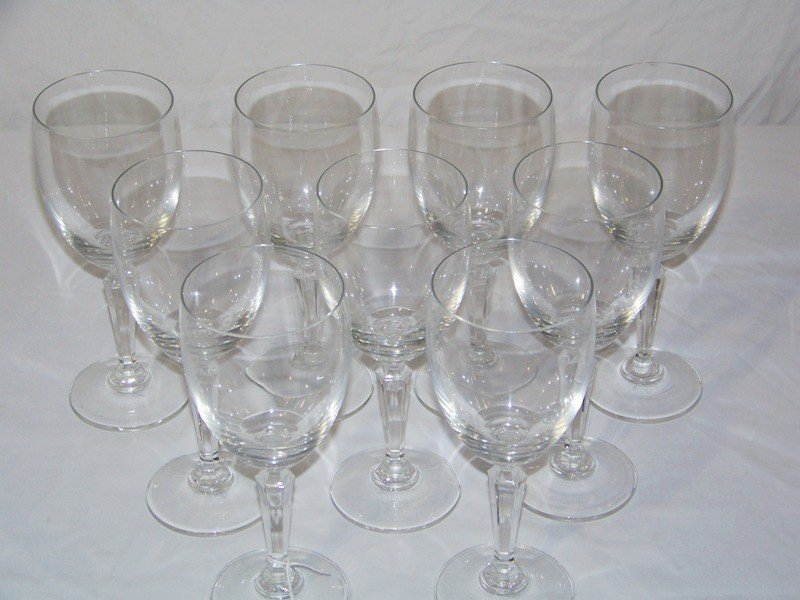 13: 9 Signed Lenox Crystal Wine Goblets