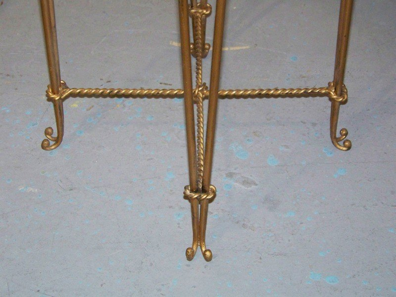 153A: Four Early French Gilt Leopard Bar Stools - 5
