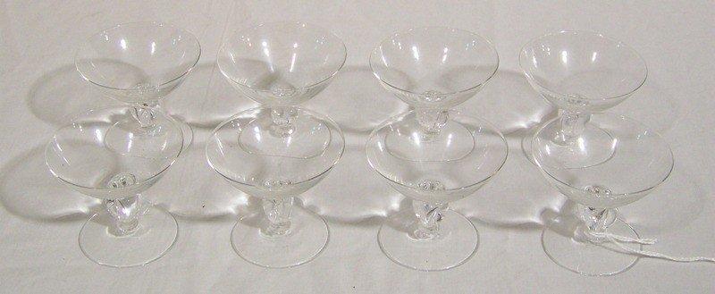 12: 8 Vintage Steuben Glass Brandy Cordials