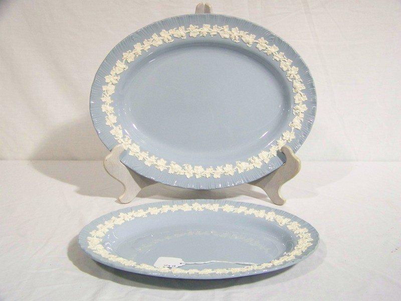 21: Pr of  Wedgwood Etruria Platter's, White Grape Pat