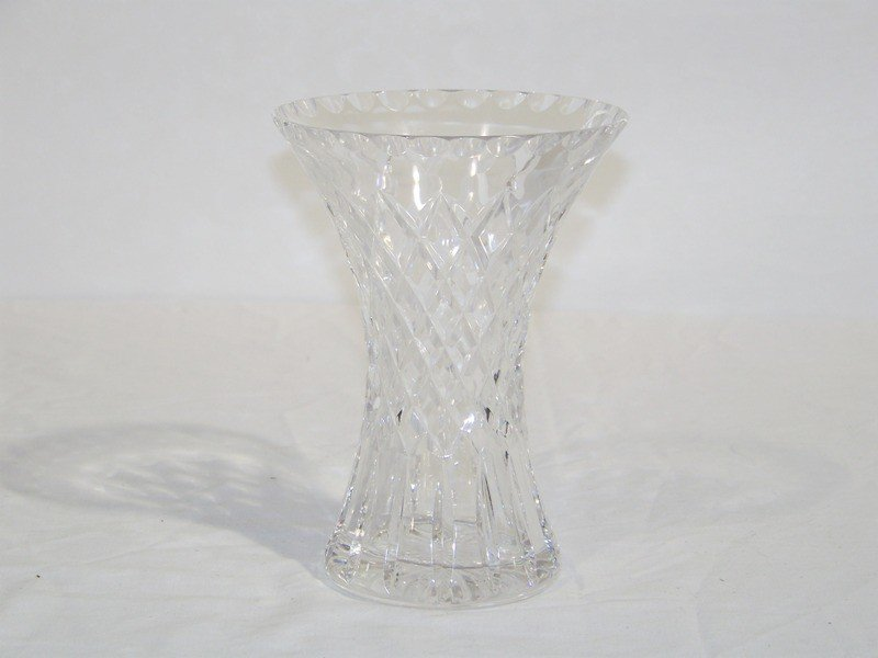 5: Modern Cartier Signed Crystal Vase