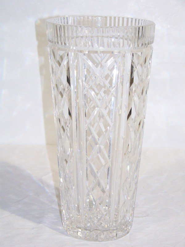 "6: Large 12"" Signed Waterford Crystal Vase"