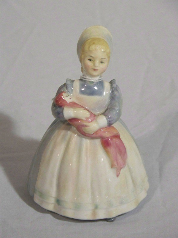 "20: Royal Doulton Porcelain Figure "" The Rag Doll "" #21"