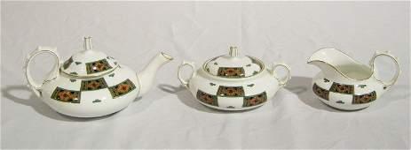 Vintage 5 Pcs Hand Painted Russian Partial Tea Set