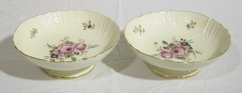 8: Pr. Royal Copenhagen H.Painted Scalloped Edge Bowls
