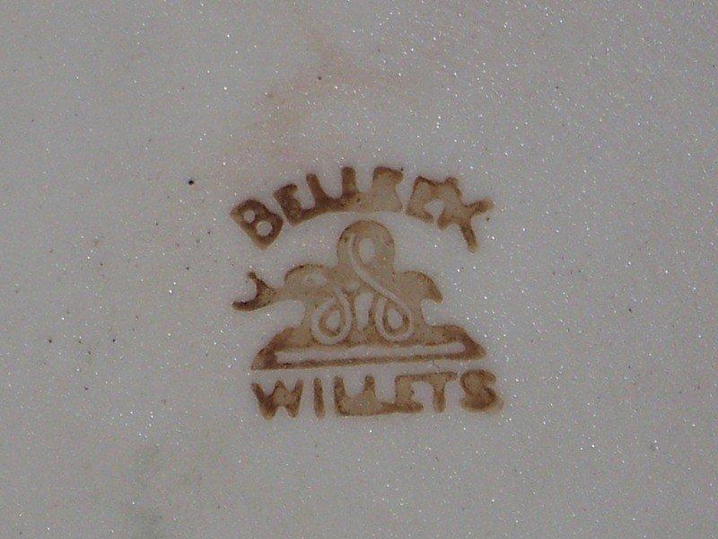 31: Vintage Willets Belleek Large Cider Pitcher Signed - 7