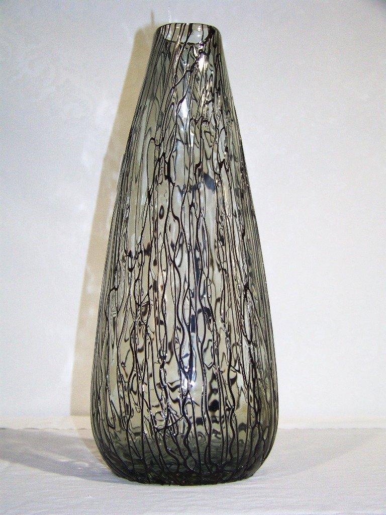 "1: Large 16"" Murano Style Art Glass Vase"