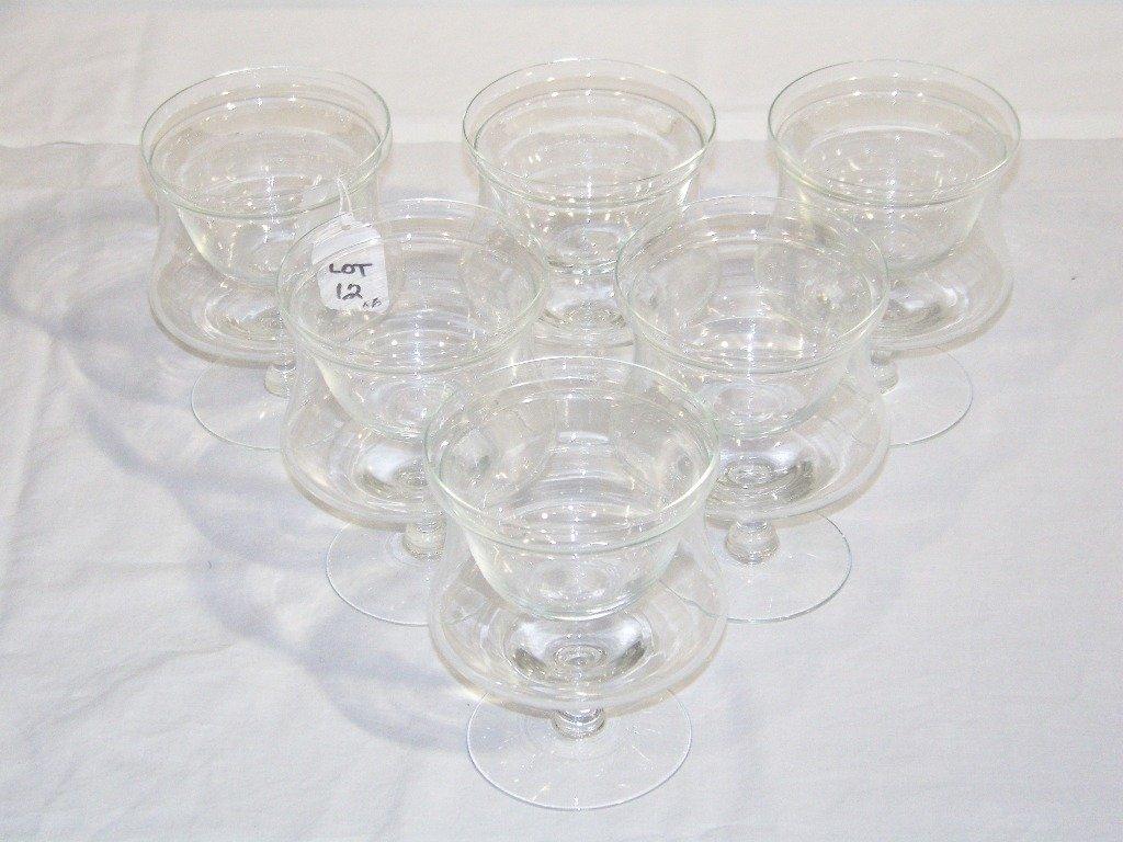 12: 6 Vintage Shrimp Glasses with Inserts