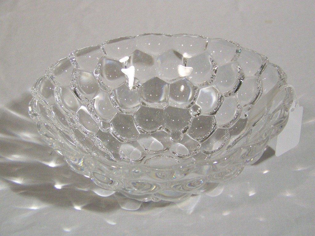 11: Vintage Signed Orrefors Bee Hive Honeycomb Bowl