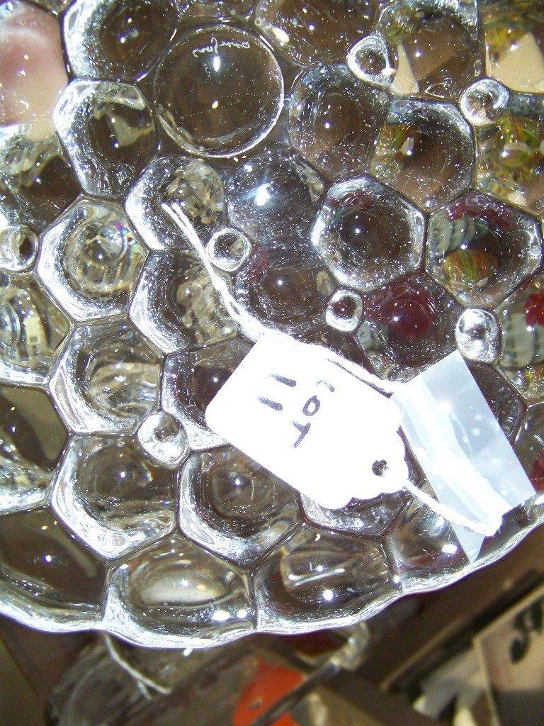 11: Vintage Signed Orrefors Bee Hive Honeycomb Bowl - 4