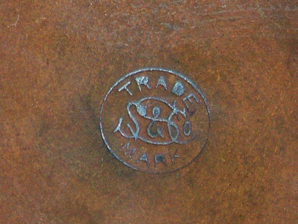 35: Antique SS & Co. Brass Teapot & Stand w/ Burner - 7