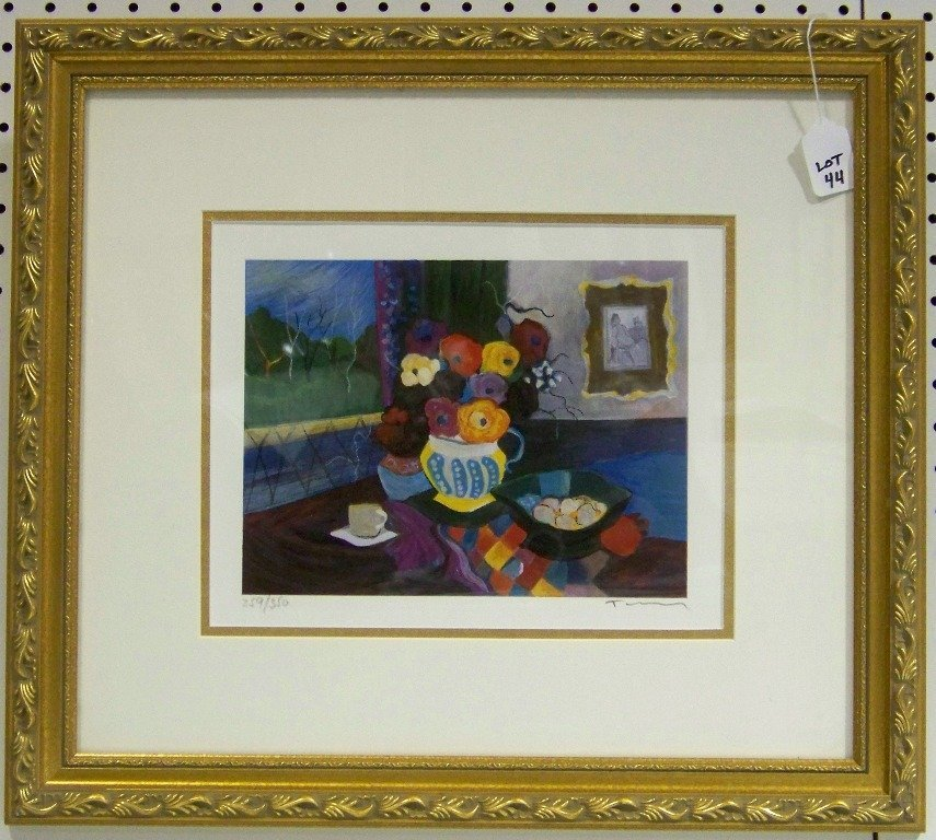 "44: ITZCHAK TARKAY, Signed Serigraph ""Peaceful Moments"