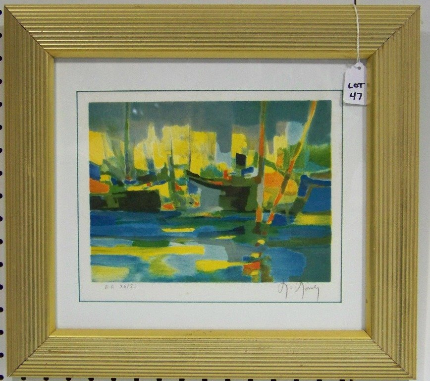 47: Marcel Mouly, Signed Lithograph in Colors EA 36/50