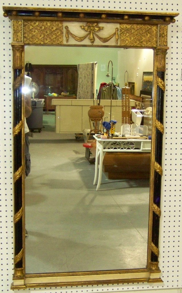 274: Great Vintage Neo Classical Wood Carved Mirror - 3