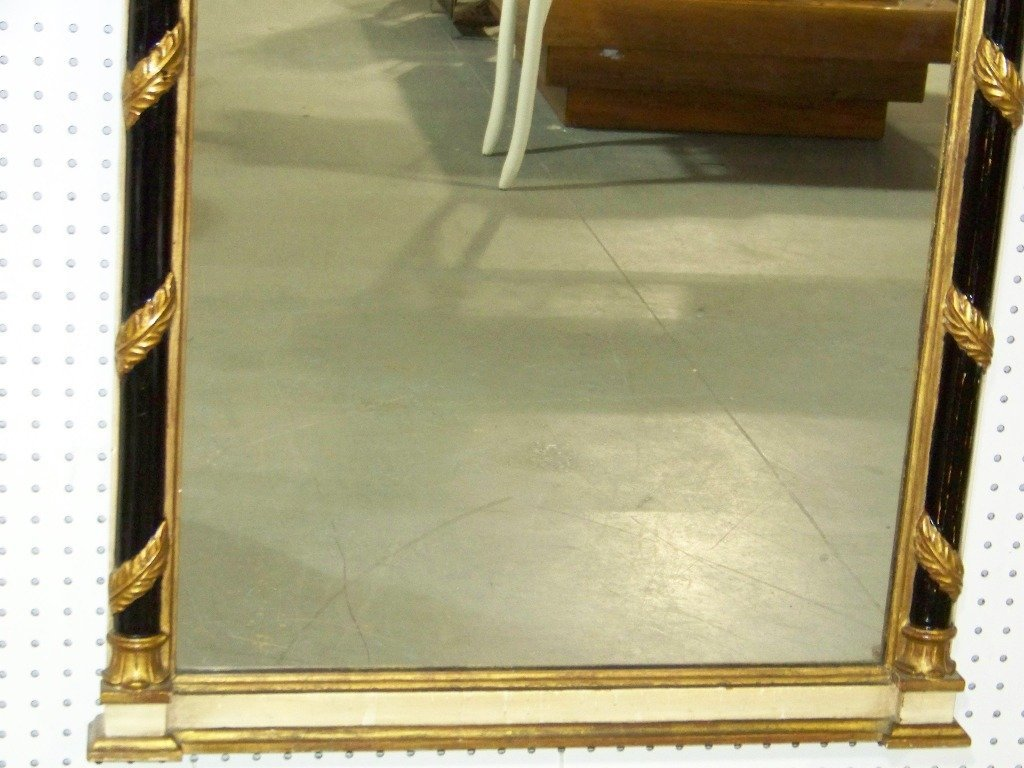 274: Great Vintage Neo Classical Wood Carved Mirror - 5