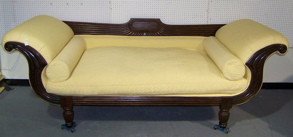 149A: Massive Carved Winged Chaise Daybed