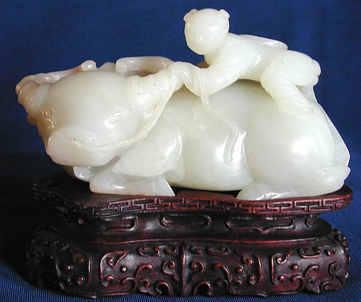 246A: ANTIQUE CHINESE WHITE JADE CARVING