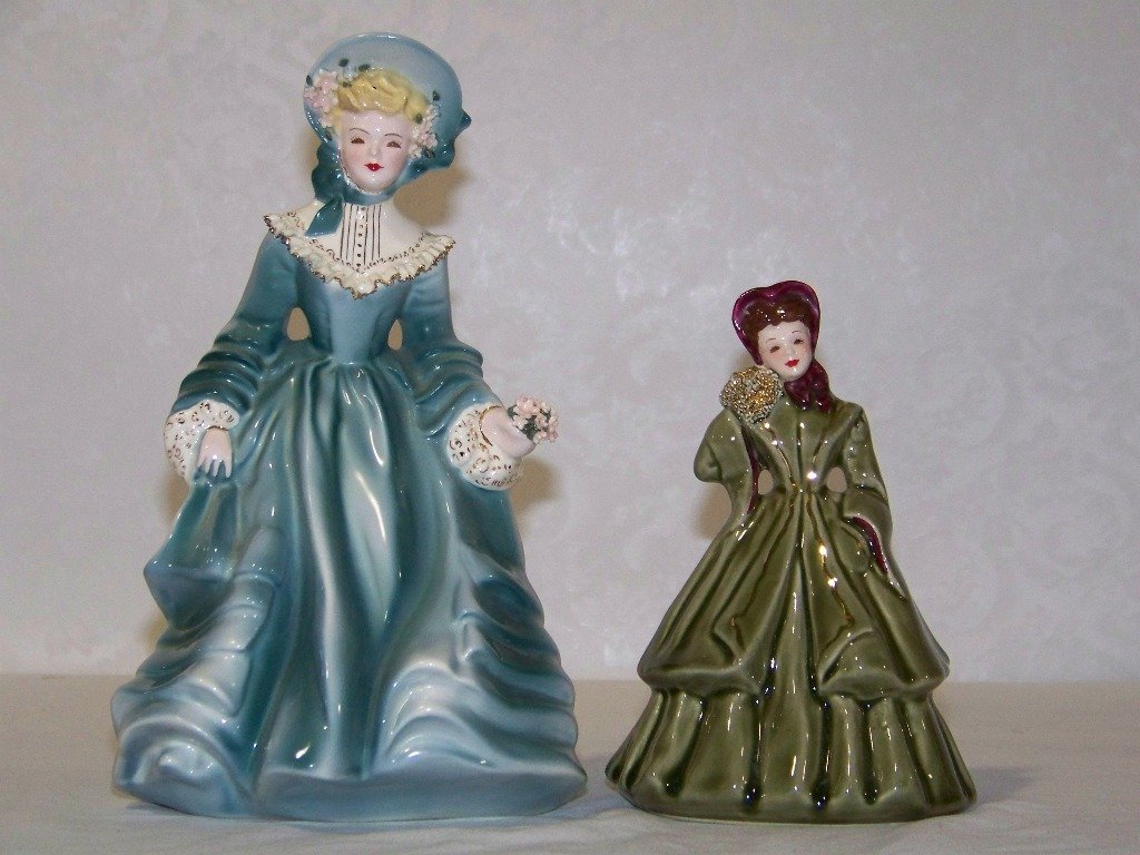 24: Pair of Florence Ceramics Pasadena California Figur