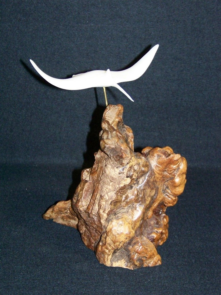 13: Vintage John Perry Table Sculpture of Stingray - 4