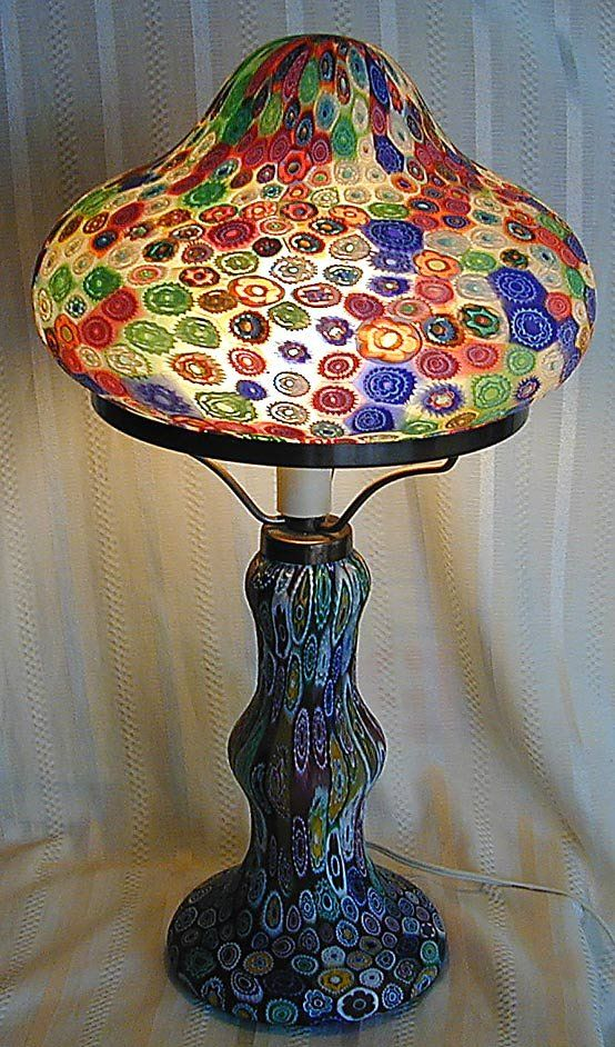 95 Italian Millefiori Glass Lamp Shade Sep 08 2012 K M Auction Liquidation Sales Ltd In Fl