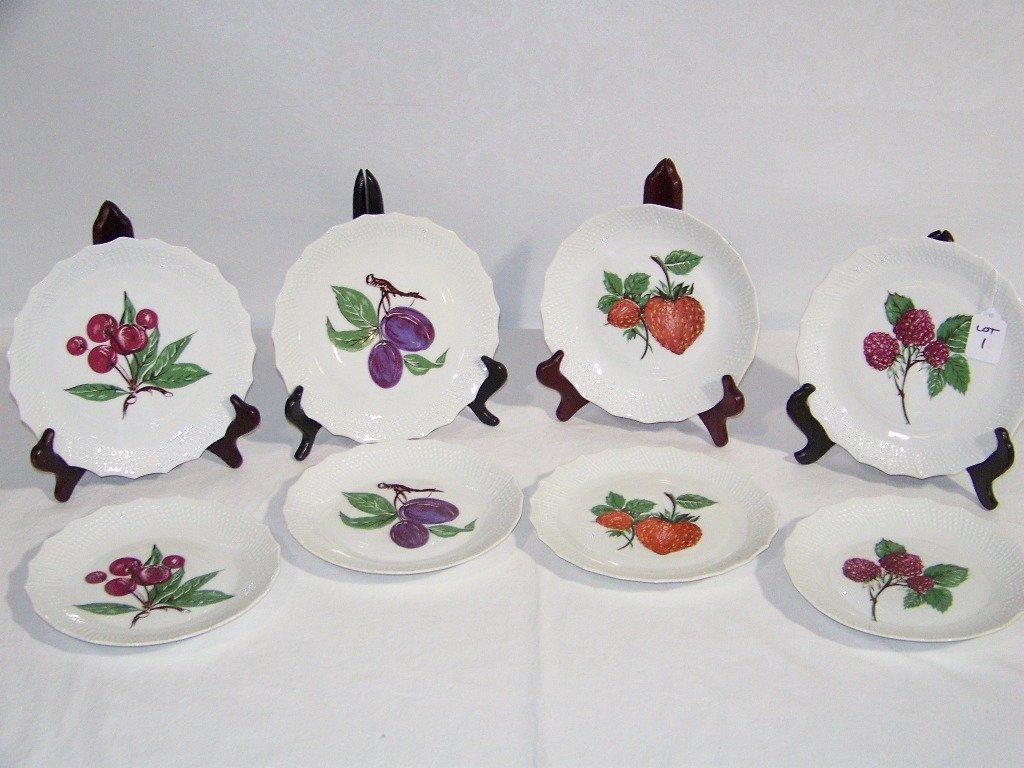 1: 8 Vintage Limoges Fruit / Bread Plates