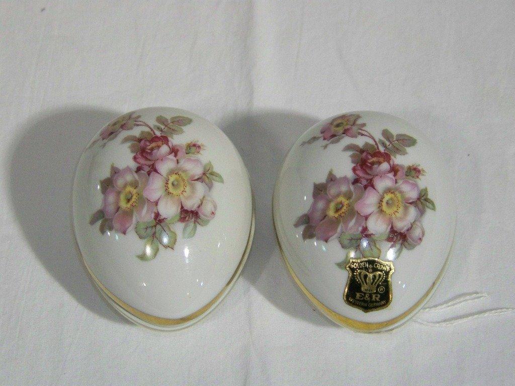 3: Pair Gerold Porzellan Bavarian Covered Eggs