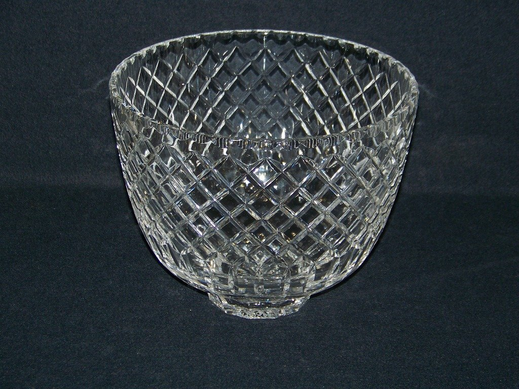 8: Large Cartier Cut Crystal Wine Cooler/Punch Bowl