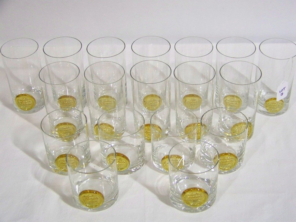 13: 18 Mid C. Modern Chinese Influence Drinking Glasses