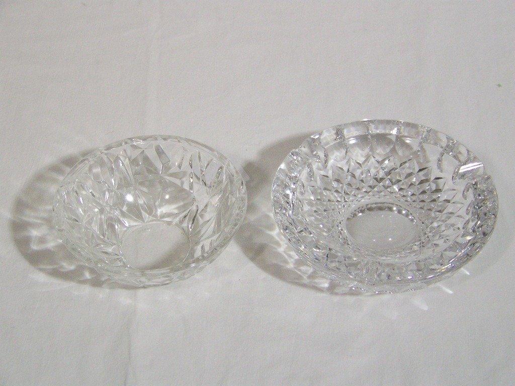 10: Pair of Fine Cut Crystal Bowls, Tiffany & Co. & Wat
