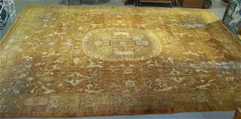 146E: Antique Place Size Persian Rug 22' x 18'