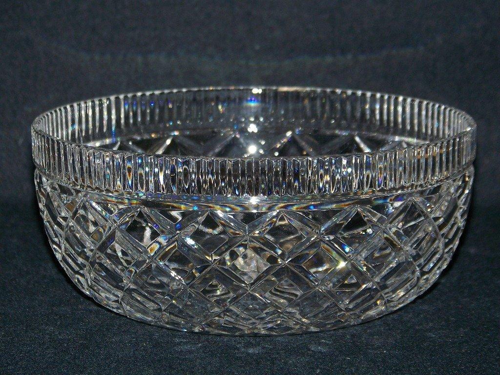 9: Fine Vintage Cut Crystal Waterford Bowl