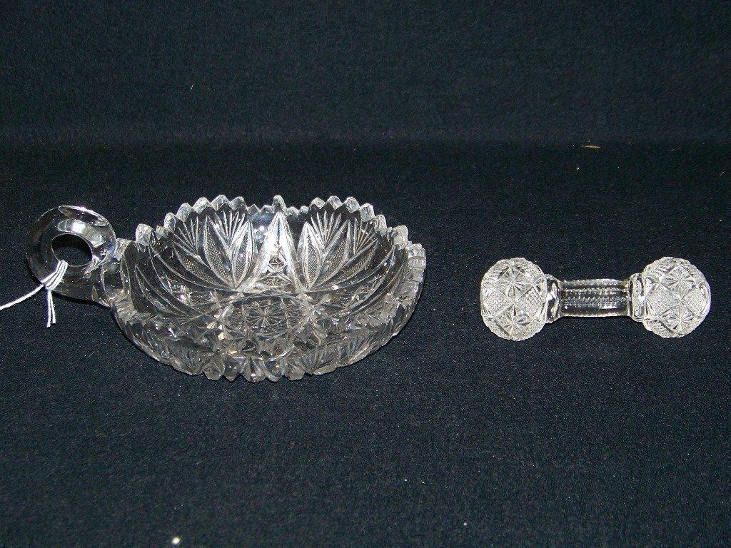 23: Vintage American Brilliant Cut Crystal Bowl & Spoon