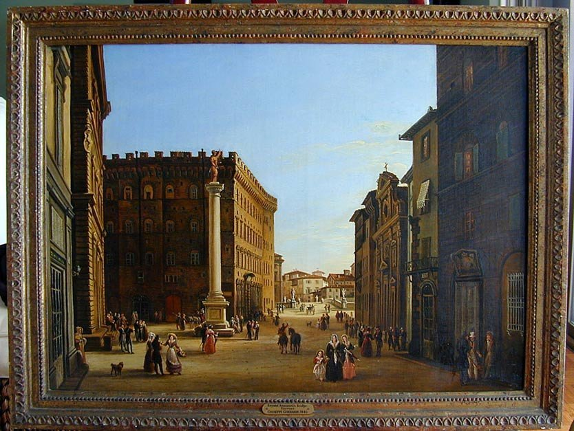 206: GIUSEPPE GHERARDI (Italy 1788-1884) O/C 1846