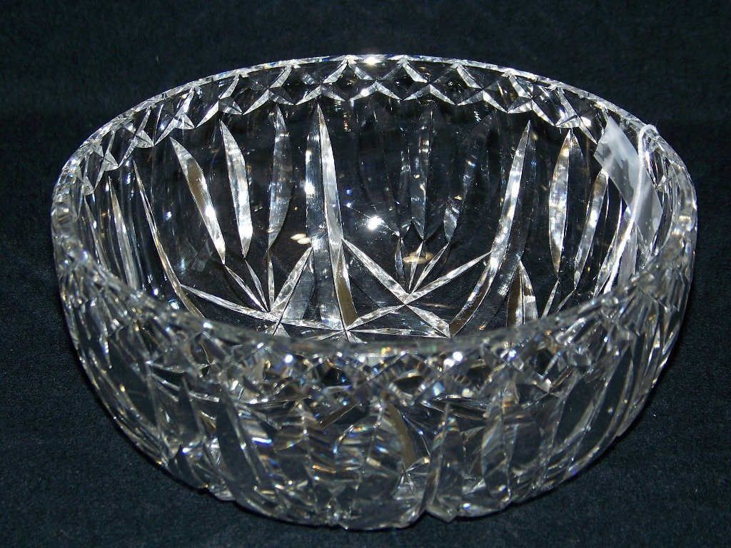 "Wonderful 8"" Cut Crystal Bowl By ""Waterford"""