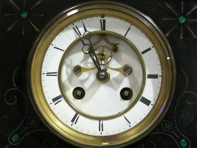 J Marti Amp Cie Medaille De Bronze Amp Slate Mantle Clock
